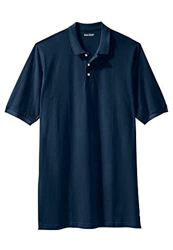 KingSize Men's Big & Tall Longer-Length Piqué Polo Shirt