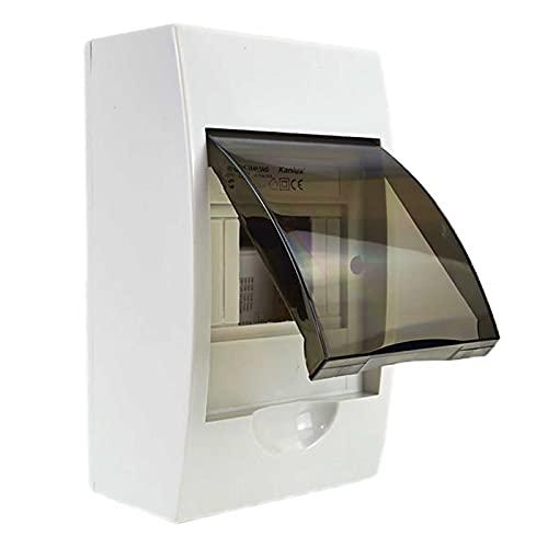 Sicherungskasten Kleinverteiler IP40 aufputz Unterverteilung 1-reihig 4 Module