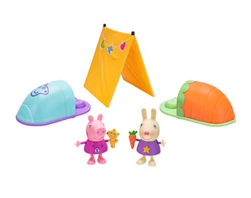 Peppa Pig PEP0559 Peppa Wutz Spielfiguren Set, Übernachtungsparty im Zelt Spielset