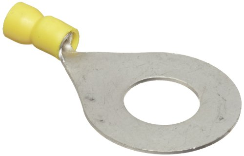 Morris Products 10074 Ring Terminal, Vinyl Insulated, Yellow, 12-10 Wire Size, 9/16