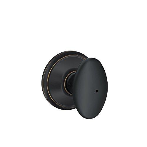Schlage F40VSIE716 Siena F40 6-Way Egg Door Knob Lockset, Aged Bronze