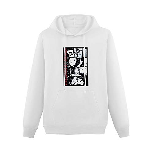 LINGDIAN 5 Seconds of Stacked Hoodie Funny Graphic Pullover Hoodies For Mens Sweatshirts Hooded White L