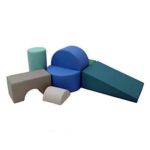 FDP SOFTSCAPE PLAYTIME 및 FOLDABLE SEAT를 적용한 유아 및 토들러를 위한 다목적 소프트 폼 플레이셋 크롤링 클라이밍 가정용 블록 플레이 데이케어 유치원(6-PIECE) - 현대