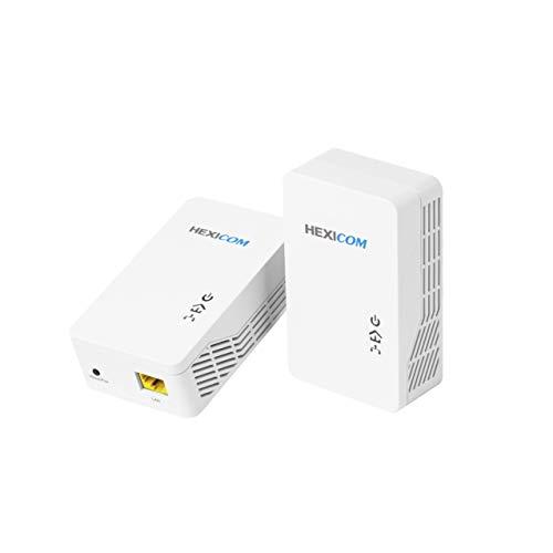 HEXICOM AV1000 Gigabit Powerline Adapter Ethernet Kit, Powerline Speeds Up to 1000Mbps (HS1000CK)