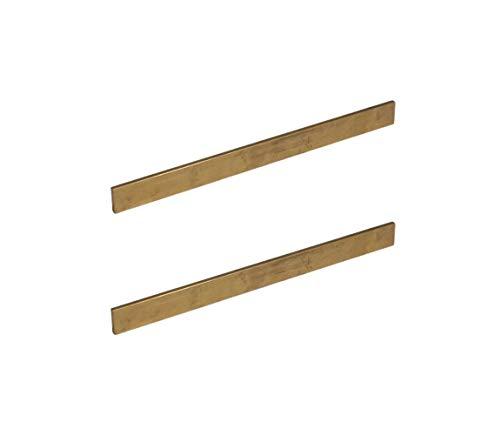 2 Pcs of Copper Bar Long Solid Flat Mill Bus Bar Stock H02 12' 1/8' x 3/4' C110