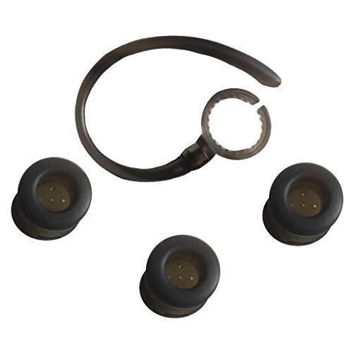 B Blesiya Juego de Auriculares Y Ganchos Redondos Negros para Motorola Elite HZ720 H17txt Series