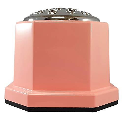 INERRA Memorial Grave Vaas Roze met Zilveren Deksel - Zware & Stevige Pot Container voor Graveside Bloem Arrangementen No Print Baby Roze met witte tekst en zilveren deksel