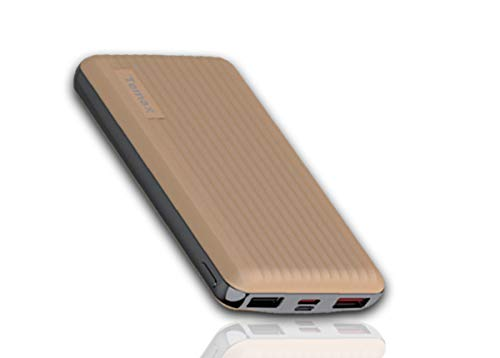 Temax Power Bank, Fast charging 20000 mAh Portable [QC 3.0], [3 Output] 3A High-speed, [Dual Input] Type C & Micro, VoltageBoost, 18 month Warranty, Compatible with iPhone Samsung Galaxy Huawei iPad