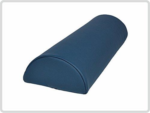 Halbrolle Knierolle Nackenrolle mit Kunstlederbezug 40 x 15 x 7,5 cm, dunkelblau