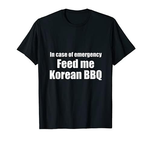 Hombre En caso de emergencia coreana barbacoa asiática tradicional Foodie Camiseta