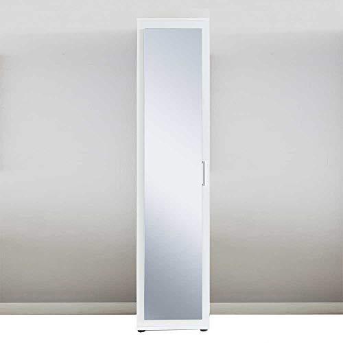 Pharao24 Spiegel Hochschrank in Weiß 40 cm breit