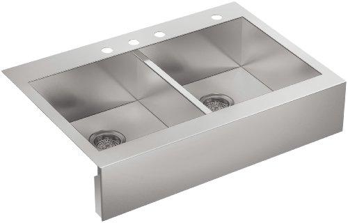Kohler Double-basin Stainless Steel Topmount Kitchen Sink