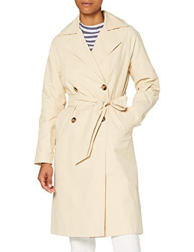 Pimkie Damen MTW20 CSOBIN Trenchcoat, Elfenbein, Small