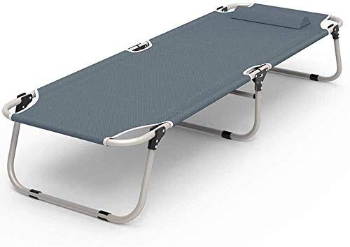 HYY-YY Lit Pliable Portátil Lit Pliant Portátil Bureau Lit Sieste Chaise Longue Salons Pour Bureau Balcón Patio Jardin Plage Meubles De Bureau À Domicile (Couleur: Gris, Taille: 190 x 62 x 32