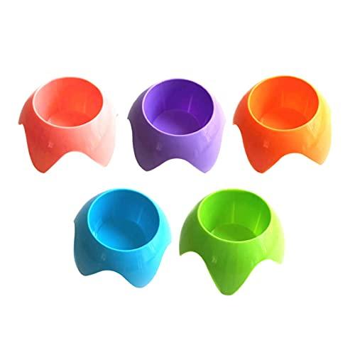 POHOVE 5 portavasos de playa apilable para vasos de arena para bebidas de teléfono, gafas de sol, clave, posavasos de arena, soporte para bebida, accesorio de playa, posavasos de arena