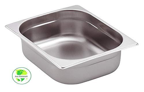 Gastro-Bedarf-Gutheil Gastronormbehälter GN Behälter 1/2 100 mm Tief stapelbar Edelstahl Geeignet für Chafing Dish, Bain Marie, Saladette