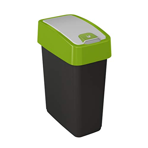 Preisvergleich Produktbild keeeper Premium Abfallbehälter mit Flip-Deckel,  Soft Touch,  10 l,  Magne,  Grün