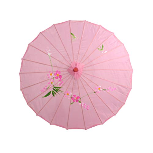 BESTOYARD Sombrilla de sombrilla Japonesa China Tradicional para Bodas, Damas de Honor, Cosplay, sombrilla de Verano (Rosa)