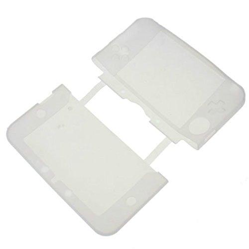GOZAR Silicona Suave Gel Protección Caso Cubierta para Nintendo 3Ds XL Ll - Blanco Claro