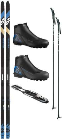 Rossignol Evo XC 60 Tour Cross Country Ski Package (Cross Country Skis, Boots, Bindings, Poles)