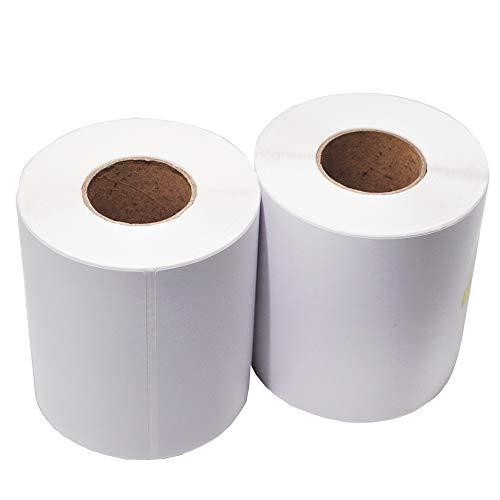 Thermo-Etiketten für Zebra-Drucker, 20 Rollen à 4 x 6 mm, 250 Etiketten 2 Rolls weiß