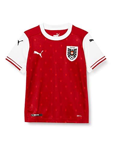 PUMA Öfb Home Shirt Replica Jr, Maglia Calcio Bambino, Chili Pepper White Red, 116