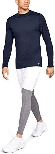 Under Armour Men s ColdGear Armour Compression Mock Long Sleeve T Shirt Midnight Navy 410 Steel product image