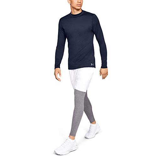 Under Armour Men's ColdGear Armour Compression Mock Long Sleeve Shirt, Midnight Navy (410)/Steel, Large