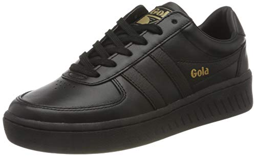 Gola Damen Grandslam Leather Sneaker, Black/Black/Black, 39 EU