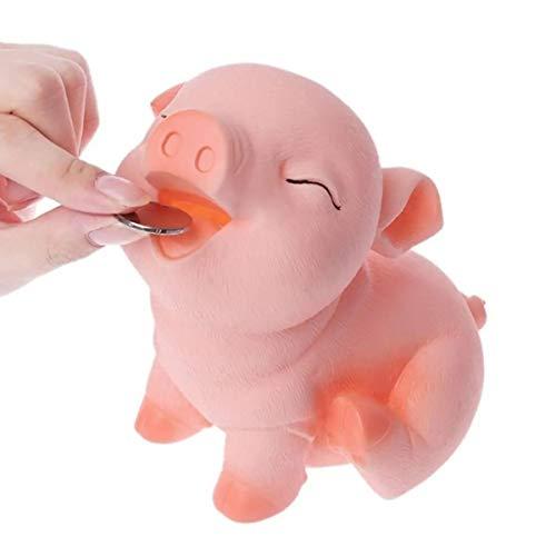 Feixunfan Hucha Titular De Cerdo Hucha Que Se Puede Abrir La Caja del Ahorro De Colección For Niños Kid Moneda De Dinero En Efectivo para niños Adultos niños niñas (Color : Pink, Size : One Size)