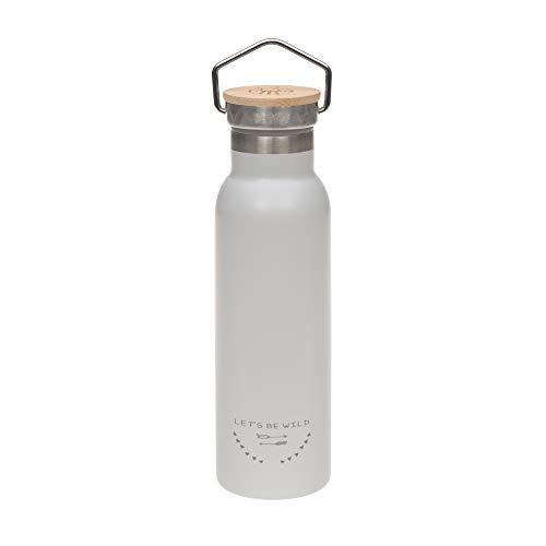 LÄSSIG isolierte Edelstahlflasche BPA-frei Doppelwandig Adventure Outdoor 460 ml grey