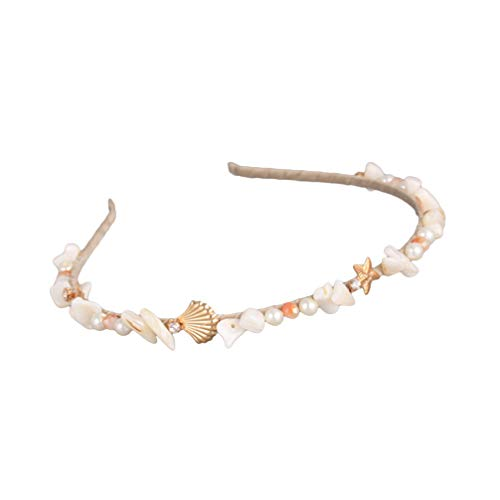 Lurrose Haarband met parels, diadeem en kroon, voor vrouwen en meisjes, bruiloftsfeest