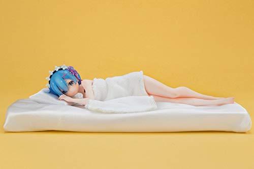 HSPHFX Posición para dormir REM Sculpture Modelo Re: Zero - Cerrar la vida en otro Mundo Estatuilla Posición de mentiras Nude Recoger Blue Maid Sister Estatua Traje Erótico para la Encimera de Coche P