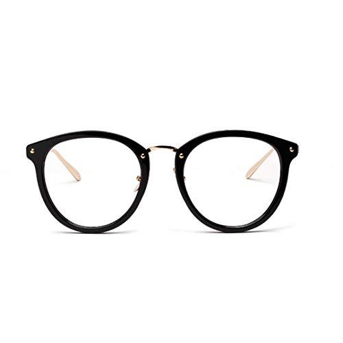 XIAOTANBAIHUO Sonnenbrillen und Sonnenbrillen Semi-Metal Retro Brillengestell Netto Promi Fashion Brille, transparente Linse (Farbe : A)