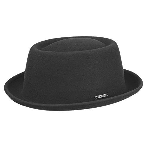 Stetson Chapeau Cameron VitaFelt Chapeaux de Feutre Tendances (L (58-59 cm) - Noir)