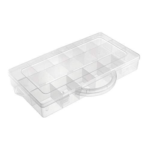 Caja de almacenaje de componentes – Plástico fijo 13 rejillas Contenedores de...