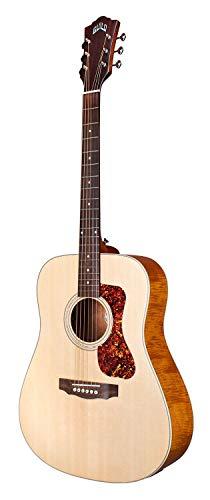 GUILD Westerly Collection Guitarra acústica de 6 cuerdas, derecha, satén natural (D-240E)