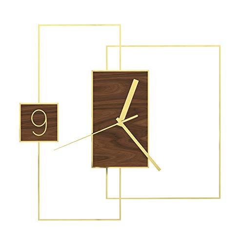 Metalen frame Decoratieve Moderne Mondriaan Wandklok Artistieke Batterij Bediende Kwarts Klok Met Tweede Hand Stilte Voor Woonkamer Keuken Bar Slaapkamer - Cafe Loft Hotel Bar Office Woonkamer Slaapkamer K