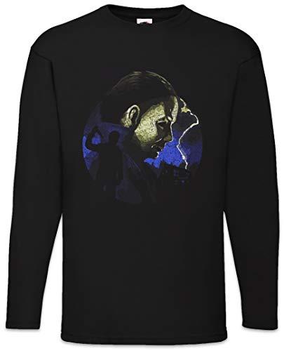 Urban Backwoods Myers Lightning Herren Langarm T-Shirt Schwarz Größe 5XL