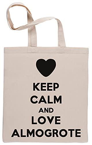 Keep Calm and Love Almogrote Bolsa De Compras Shopping Bag Beige