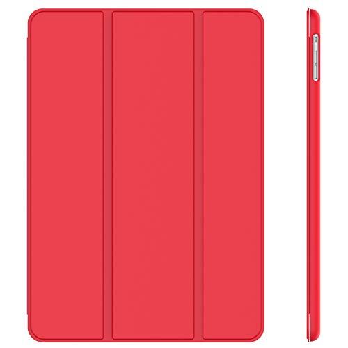 JETech Funda para iPad Air, Carcasa con Soporte Función, Auto-Sueño/Estela, Rojo
