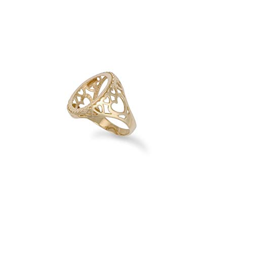 Ring 9 Karat Gold Zehnter Herz Krugerrand