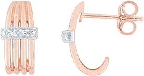 BORG - Orecchini in oro bicolore 750/00 e diamante, www.diamants.perles.com
