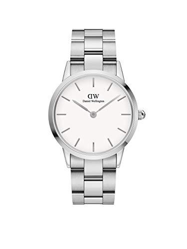 Daniel Wellington Iconic Link, Silber Uhr, 36mm, Edelstahl, für Damen und Herren