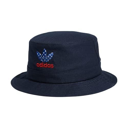 adidas Originals Sombrero de cubo lavado, azul marino, talla única