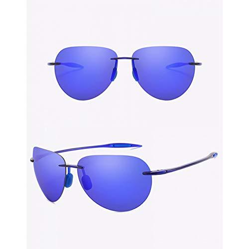 SXRAI Gafas de Sol ultraligeras sin Montura para Hombre, Gafas de Sol para Conducir, protección UV Masculina,C5
