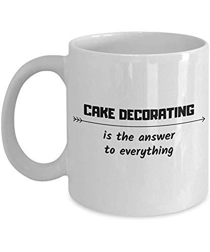 De taartdecoratie is het antwoord op alle koffiemokken, chef-collega's Fiend cadeau, hobby, reismok.