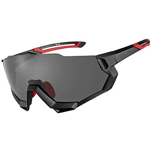 ZXTYJ Gafas de Sol polarizadas Deportivas con 4 Intercambiables Lenes for la Ejecución de conducción de Bicicletas de Sol del Deporte Hombres y Mujeres (Color : B)