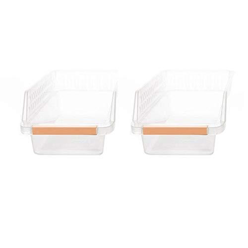 Sansund Getränke-Schublade leer Kühlschrank Lebensmittel Korb Organizer Regal Aufbewahrungsbox