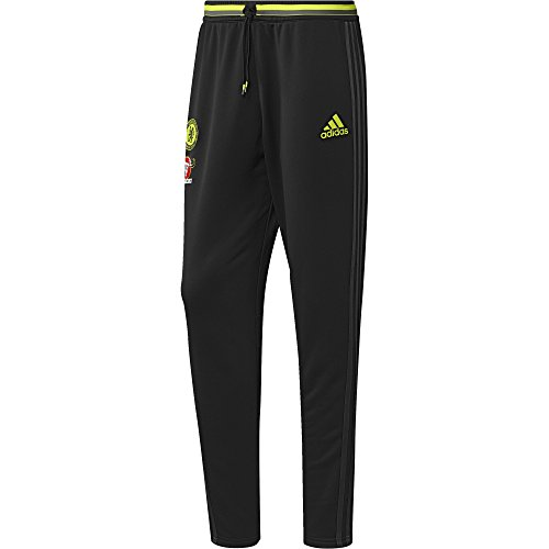 adidas Herren FC Chelsea Trainingshose, Black/Granite/Solar Yellow, S